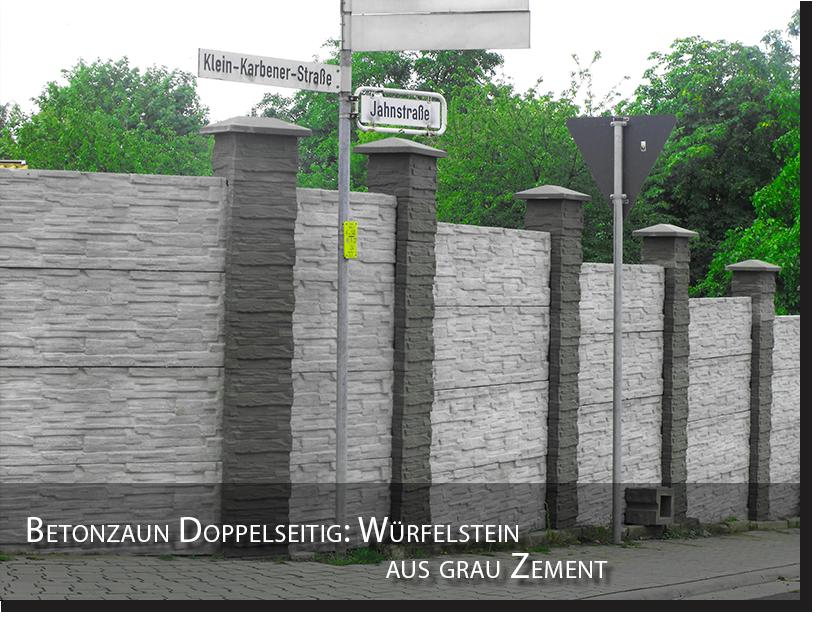 zaun betonzaun doppelseitig gartenzaun garten beton. Black Bedroom Furniture Sets. Home Design Ideas